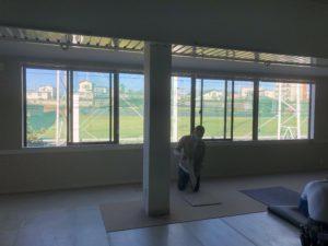 インナーゴルフスクールの床改修工事が終了
